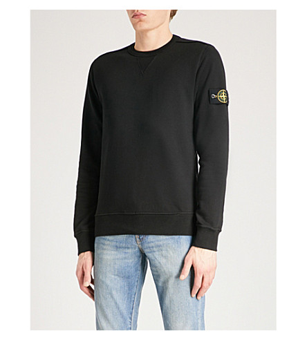 Logo-patch cotton-jersey sweatshirt Stone Island Clearance Cheapest Price Many Kinds Of Cheap Online wX5ehIr