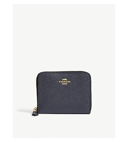 Zip Around Small Leather Wallet by Coach