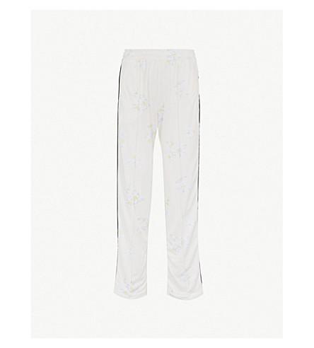 Dubois Straight High Rise Piqué Trousers by Ganni