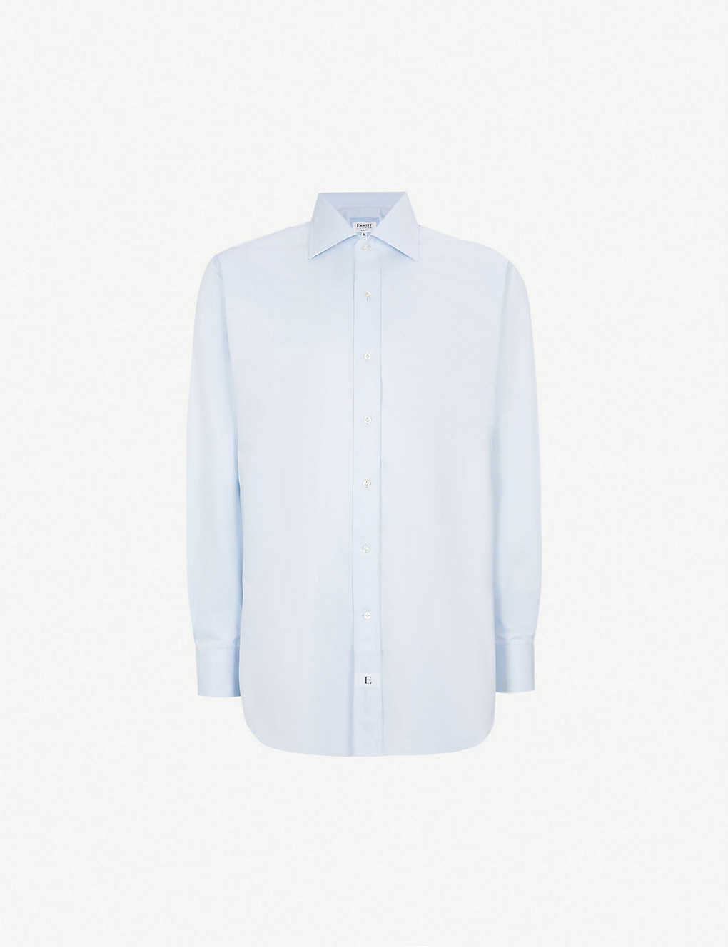 Emmett London Slim Fit Single Cuff Cotton Twill Shirt Selfridges