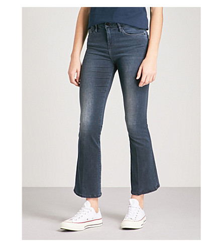 FRAME Le Crop Mini Boot Med-Rise Flare-Leg Jeans