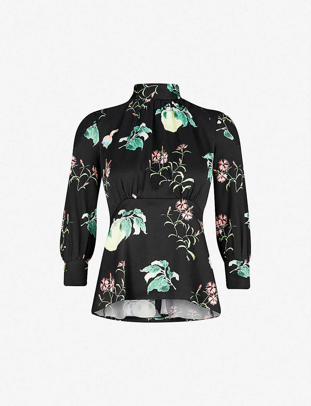 541eede7e07ae PETER PILOTTO - Floral-print high-neck silk top