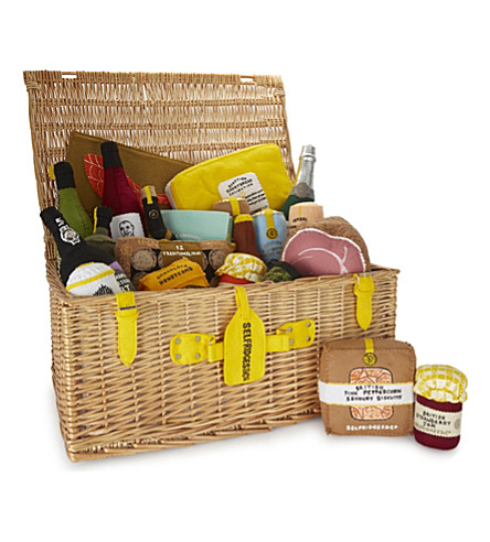 Lucy sparrow christmas felt hamper selfridges previousnext negle Image collections