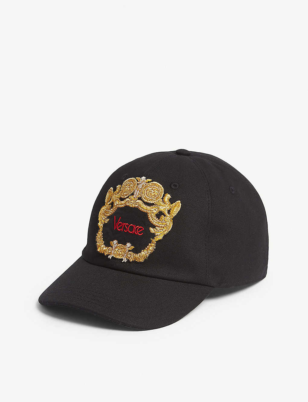 VERSACE - Framed logo cotton baseball cap  001dcee7f438