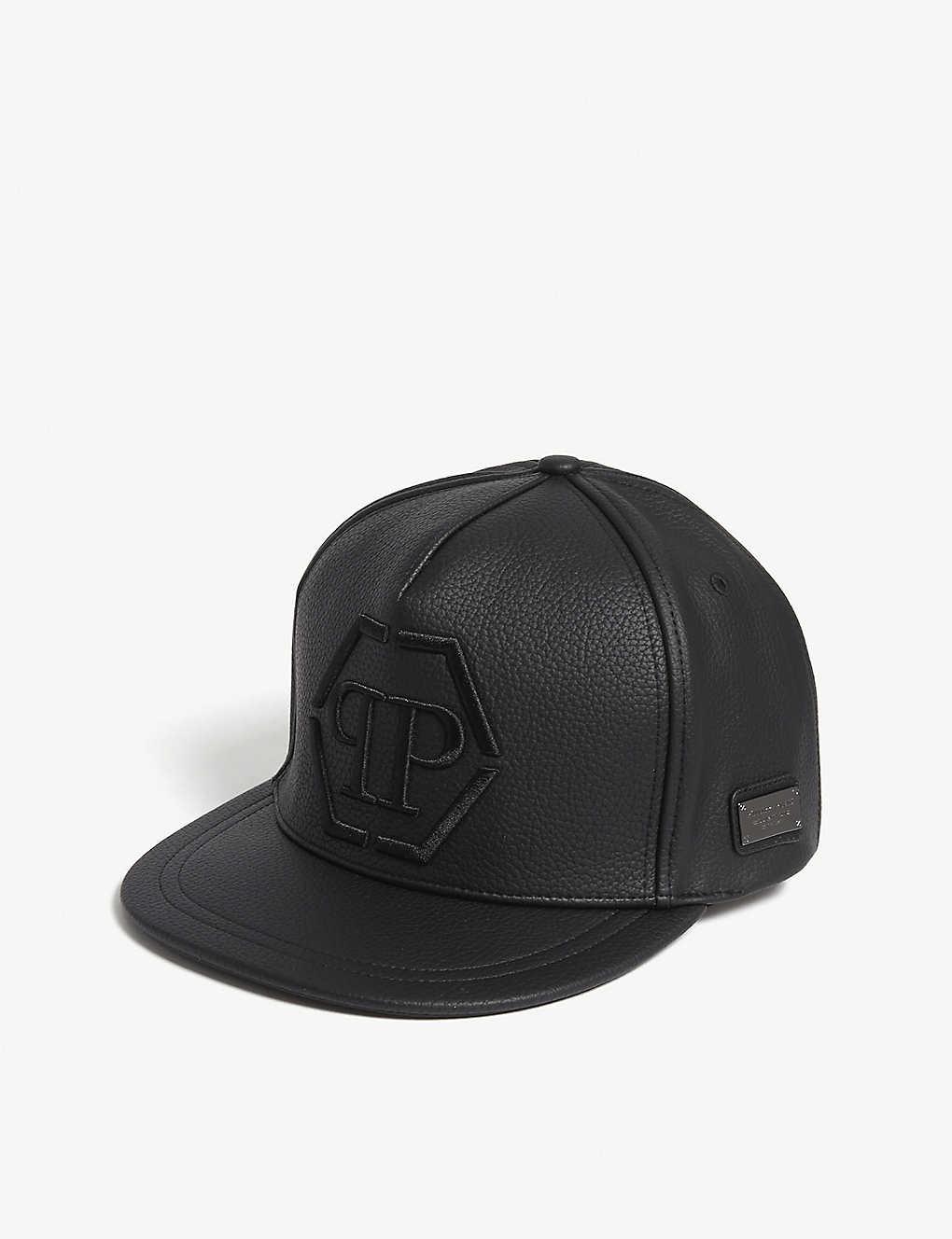 7c50a0d275c8 PHILIPP PLEIN - Tony logo faux-leather strapback cap
