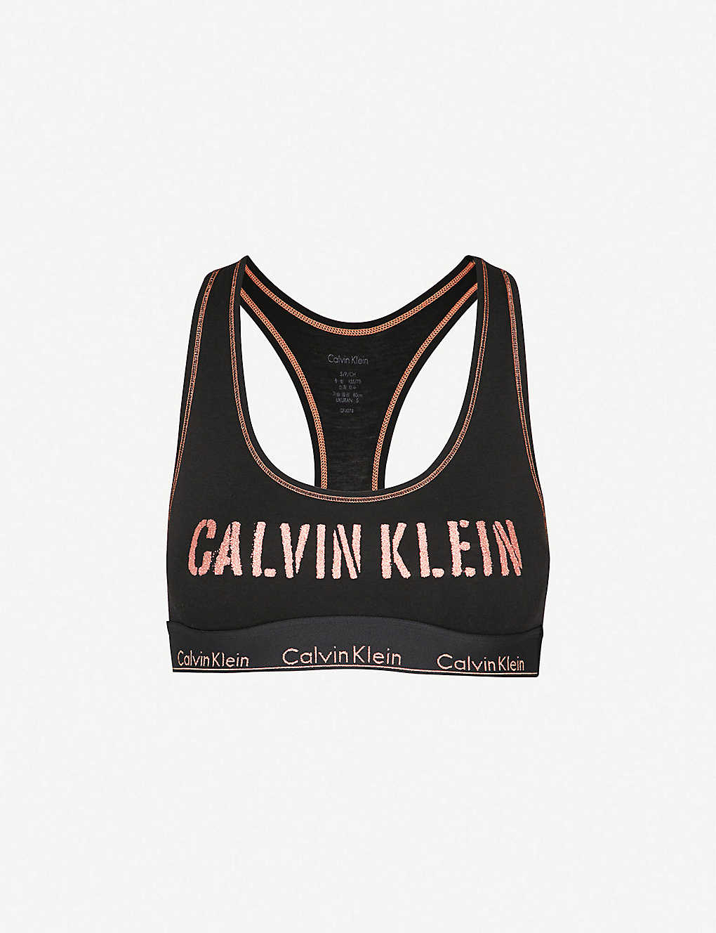 c7e1e624c38 CALVIN KLEIN - Modern cotton-blend bralette