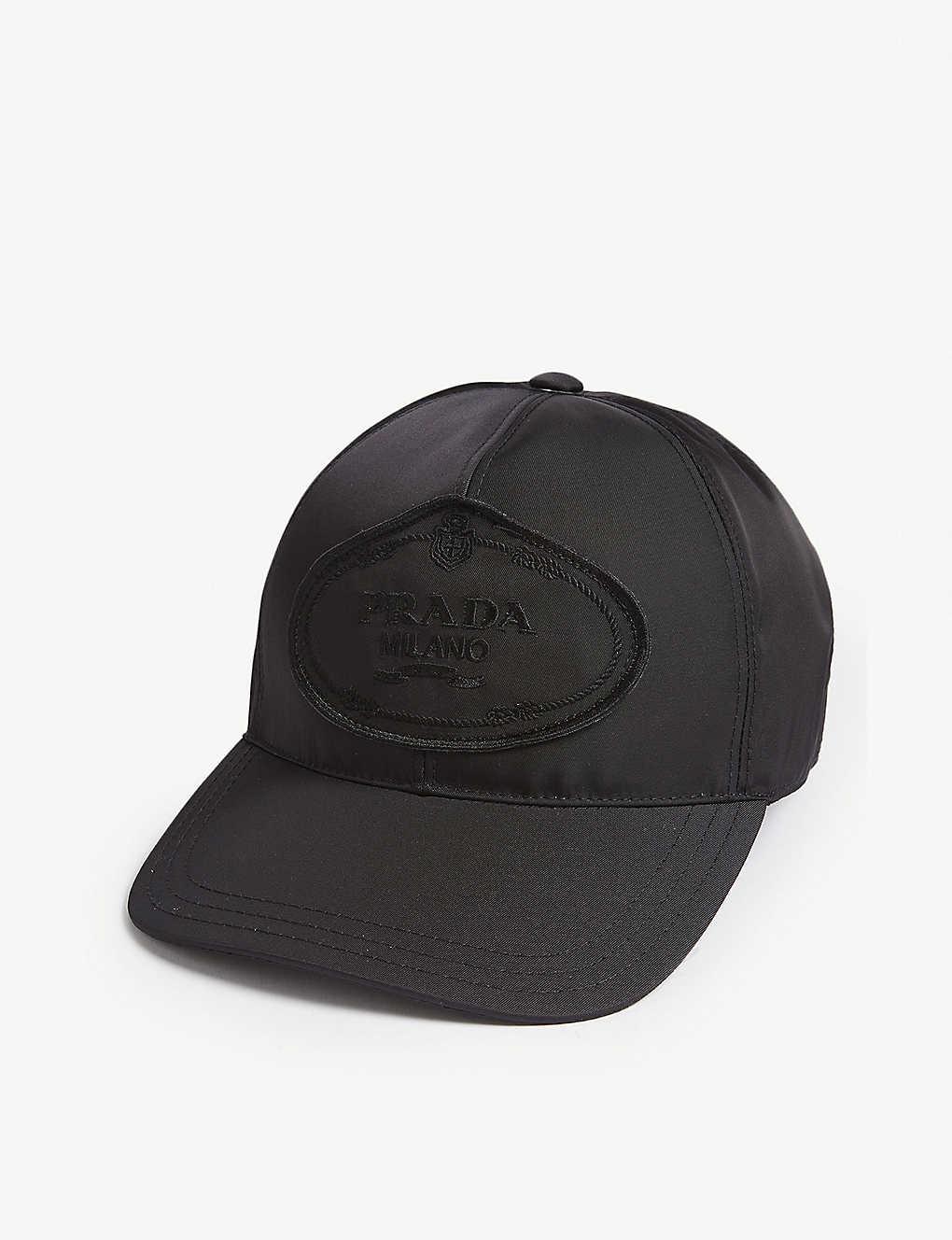 PRADA - Logo nylon baseball cap  88bda4272284