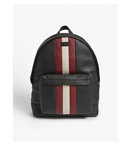 BALLY - Hingis Trainspotter grained leather backpack  cdcf4d05df038