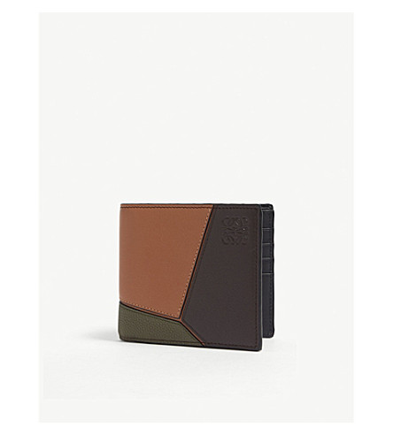 Puzzle Leather Billfold Wallet by Loewe