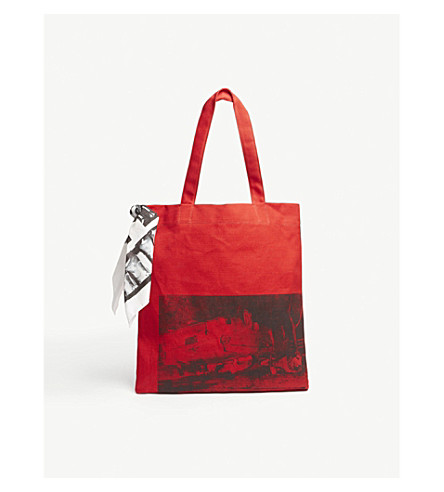 5 Deaths Canvas Museum Bag by Calvin Klein 205 W39 Nyc