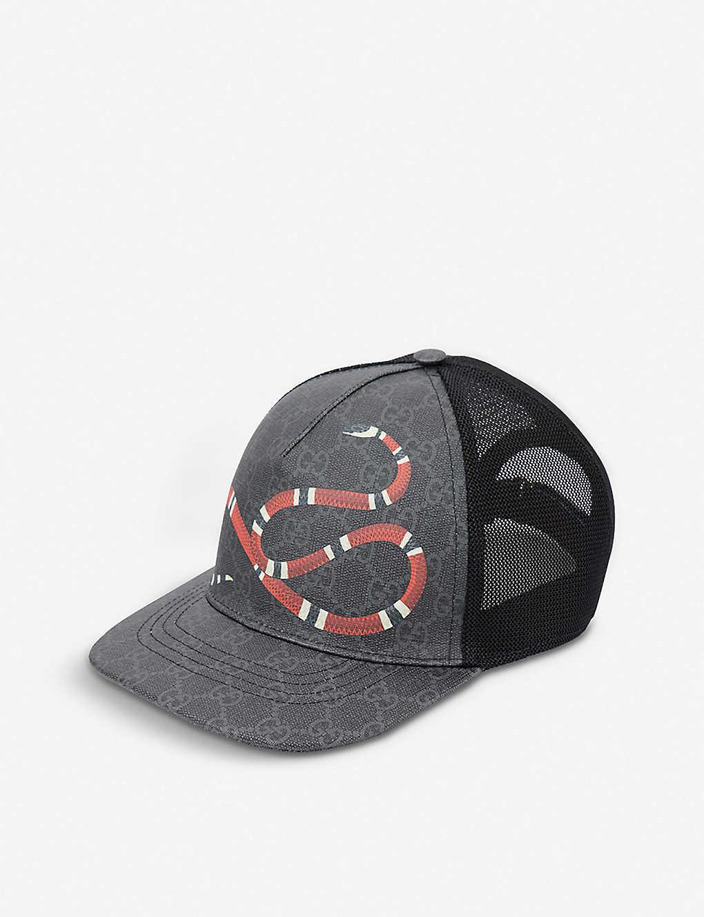 GUCCI - Kingsnake GG Supreme canvas and mesh baseball cap ... 7ded79cd235b