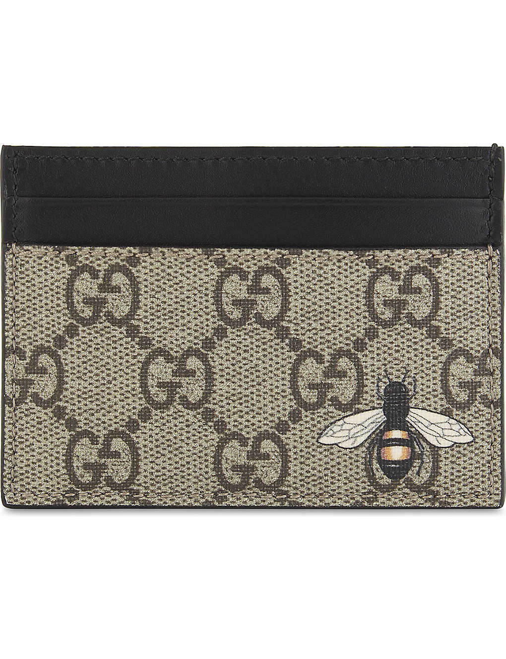 GUCCI - Bestiary GG Supreme card holder | Selfridges.com