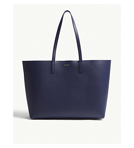Stamped Leather Tote by Saint Laurent