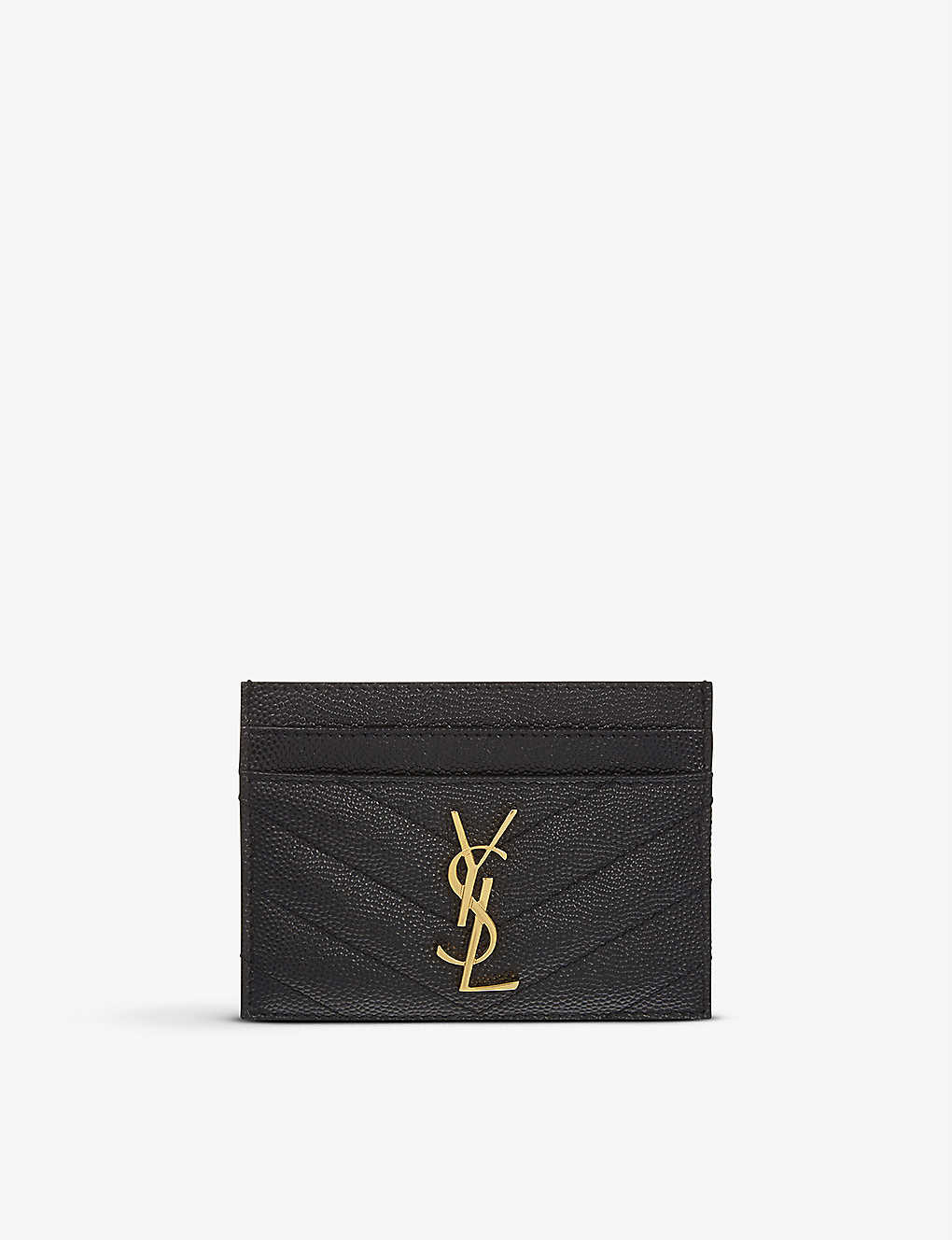 SAINT LAURENT - Monogram quilted leather card holder  45c4751d87