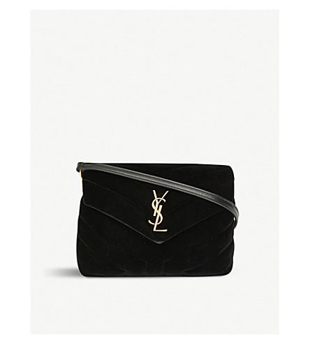 ... SAINT LAURENT Toy Loulou velvet shoulder bag (Black gold. PreviousNext 11fa21de0b990