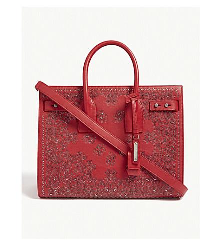 0391b6d0e9a4 ... SAINT LAURENT Sac de Jour paisley small leather tote bag (Red.  PreviousNext