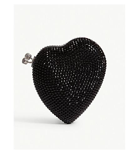 Love Heart Swarovski Small Box Clutch by Saint Laurent