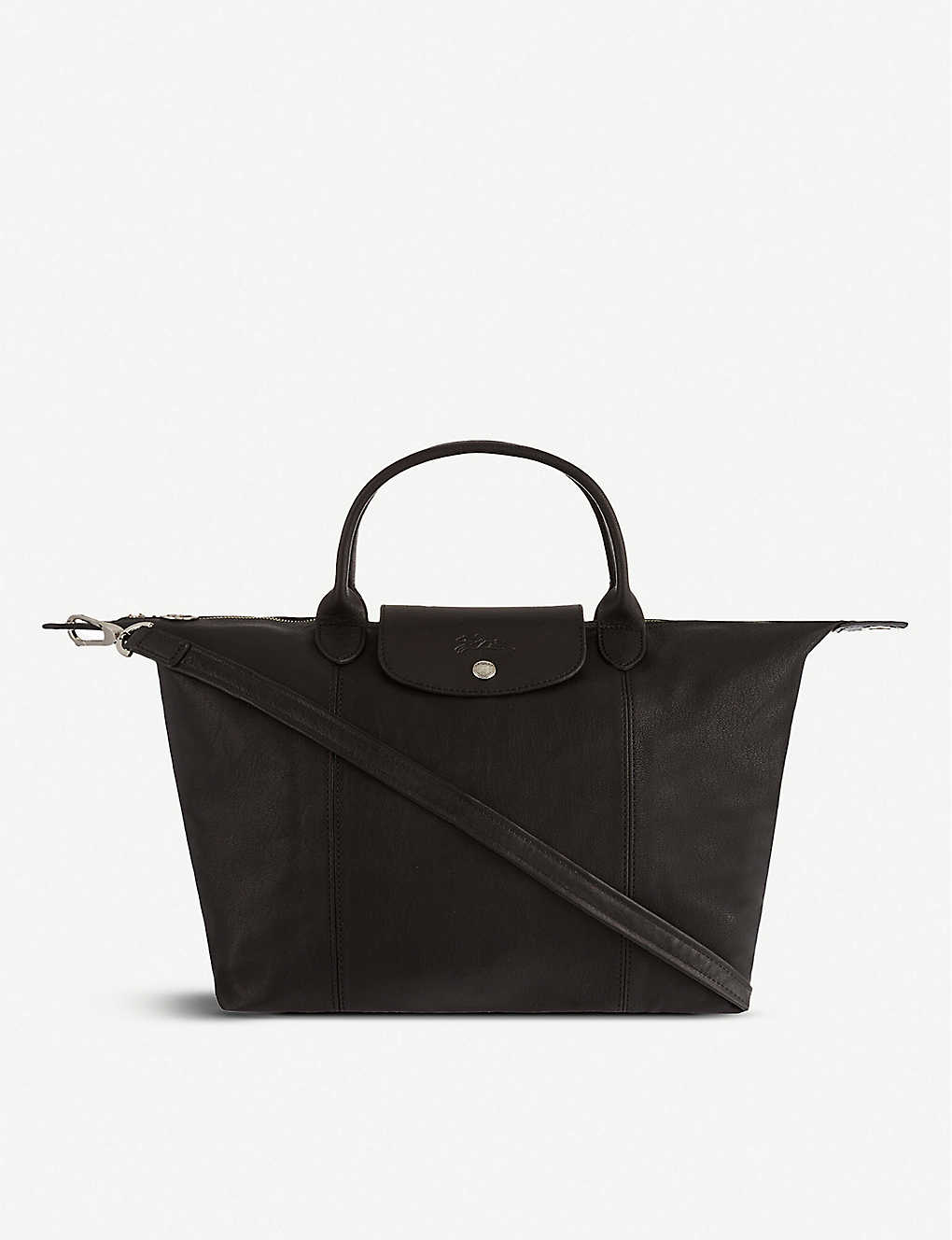 LONGCHAMP - Le Pliage Cuir medium handbag  09bbb2b2c2fd8