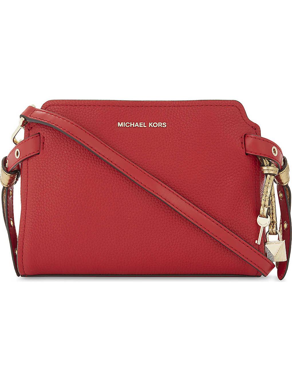3c827e64535d9 MICHAEL MICHAEL KORS - Bristol leather messenger bag