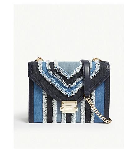 372a7f83e5260 MICHAEL MICHAEL KORS - Whitney denim and leather shoulder bag ...