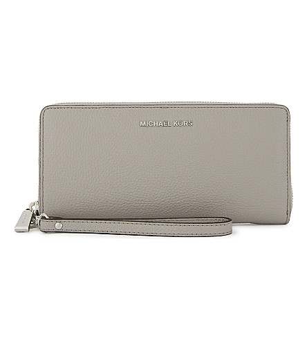 ... MICHAEL MICHAEL KORS Money Pieces leather continental wallet  (Pearl+grey. PreviousNext 2fc7b8daf7