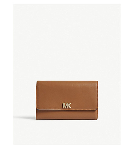 ... MICHAEL MICHAEL KORS Logo leather carryall wallet (Acorn. PreviousNext 22e72ffb34