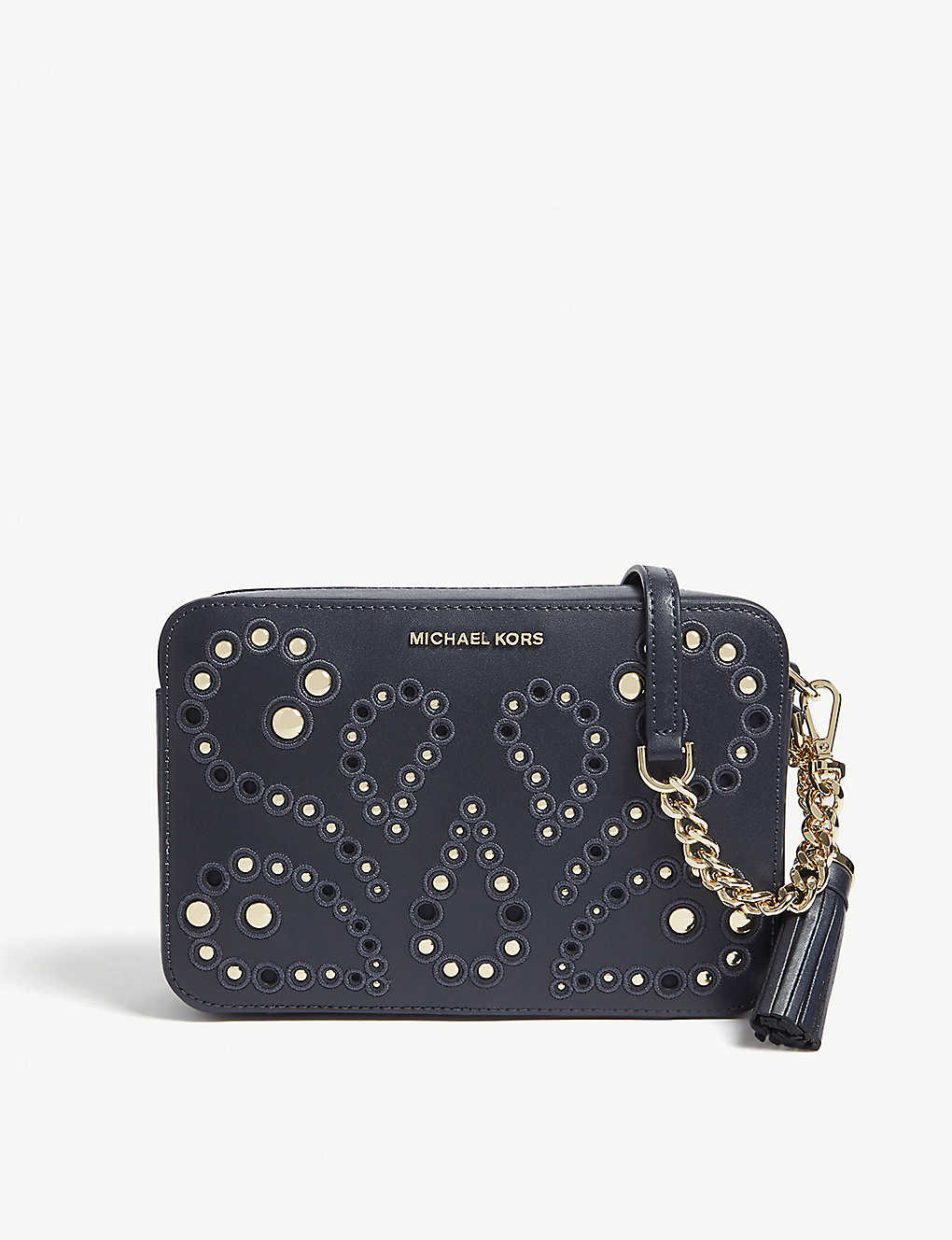 d05aabe66a6 MICHAEL MICHAEL KORS - Embellished leather cross-body bag ...