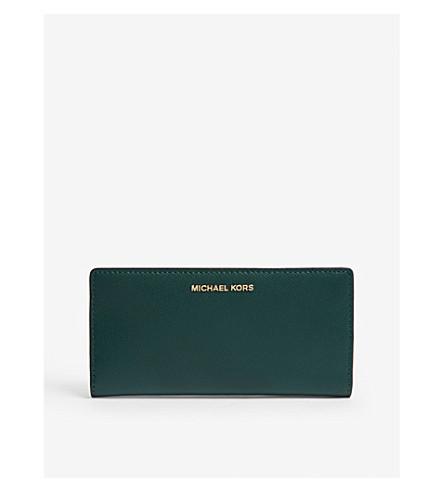 ... MICHAEL MICHAEL KORS Saffiano leather slim wallet (Rcng+grn+mlt.  PreviousNext b0889bb8b8