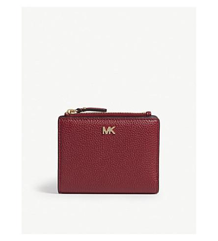 ... MICHAEL MICHAEL KORS Logo leather folding wallet (Maroon. PreviousNext fc70f197bb