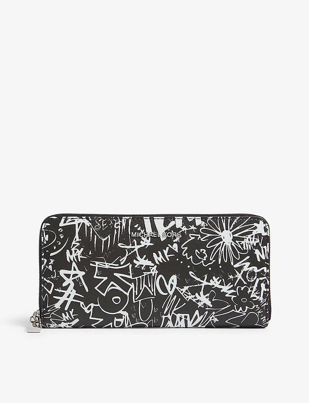 MICHAEL MICHAEL KORS - Money pieces graffiti leather wallet ... 31a1b6d401