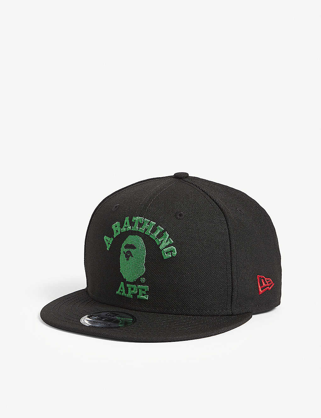 A BATHING APE - New Era embroidered logo wool snapback cap ... 9d482580837