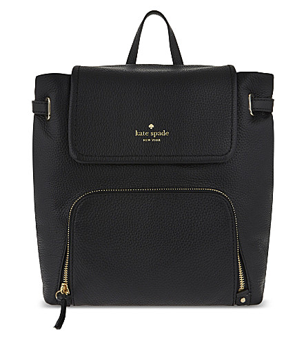 0c9a7b542ac5c ... KATE SPADE NEW YORK Cobble hill charley leather backpack (Black.  PreviousNext