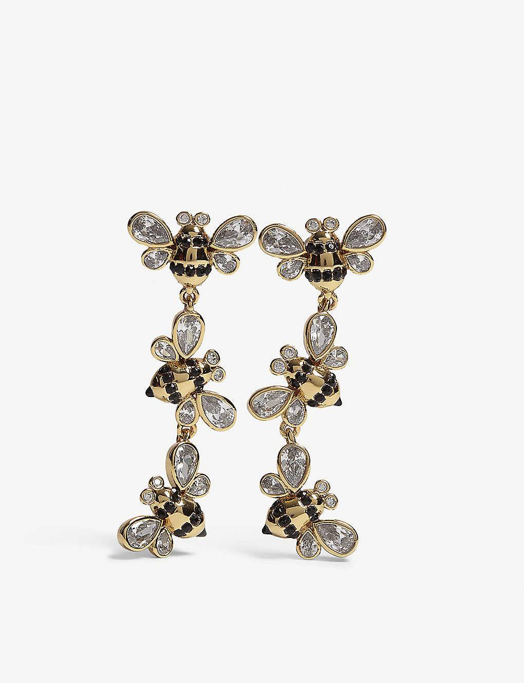 KATE SPADE NEW YORK - Picnic Perfect bee drop stud earrings ...