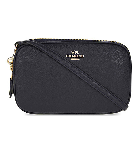 Pebbled Leather Cross Body Clutch by Coach