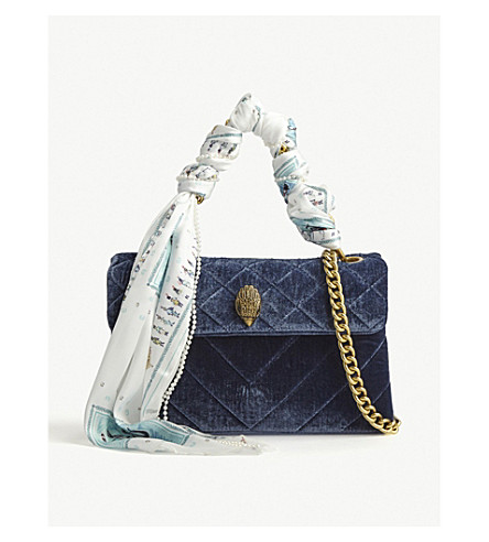 Kensington Quilted Velvet Shoulder Bag by Kurt Geiger London