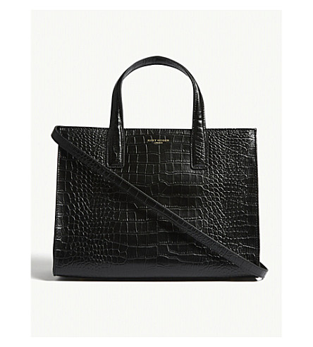 Croc Embossed Leather Tote by Kurt Geiger London