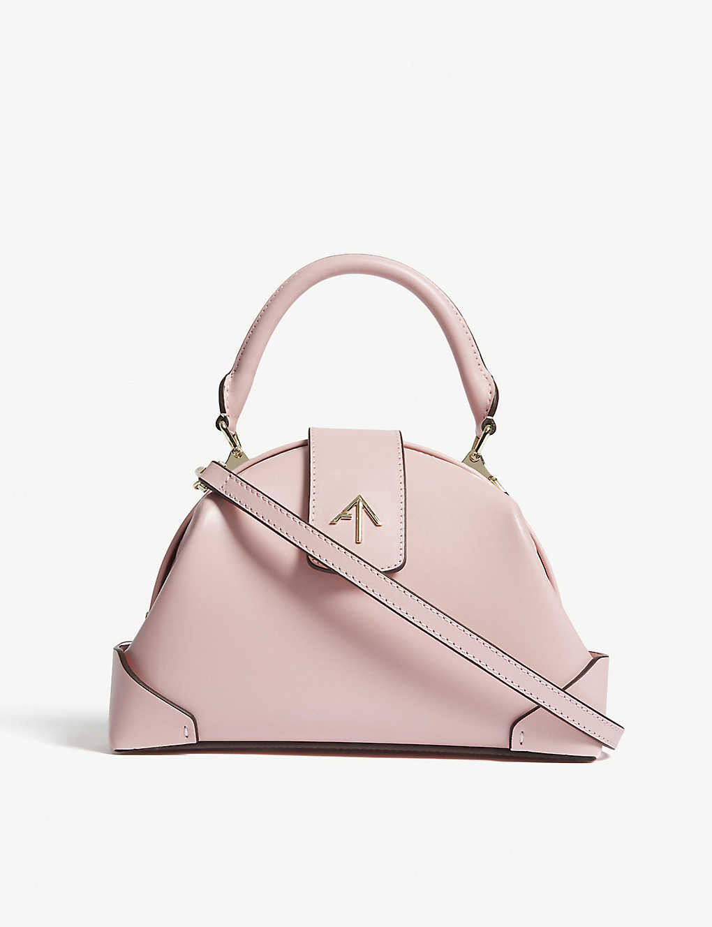 Manu Atelier pink top handle bag