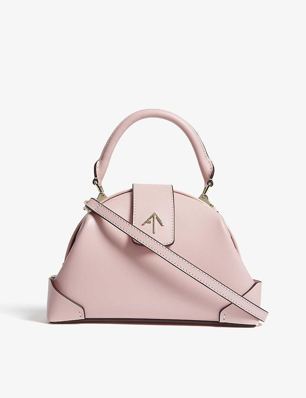 Manu Atelier pink top handle bag
