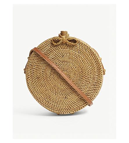 Balinese Circular Rattan Box Bag by Edit58