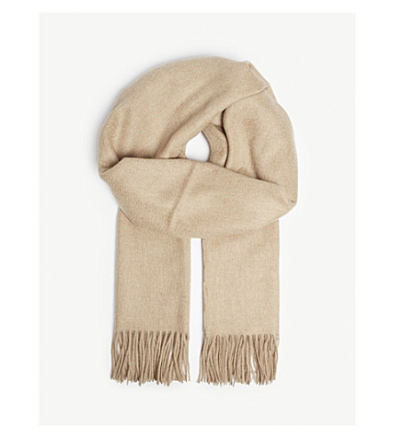 Solid Cashmere Scarf by Johnstons