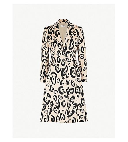 Driss Leopard Print Wool Blend Coat by Altuzarra