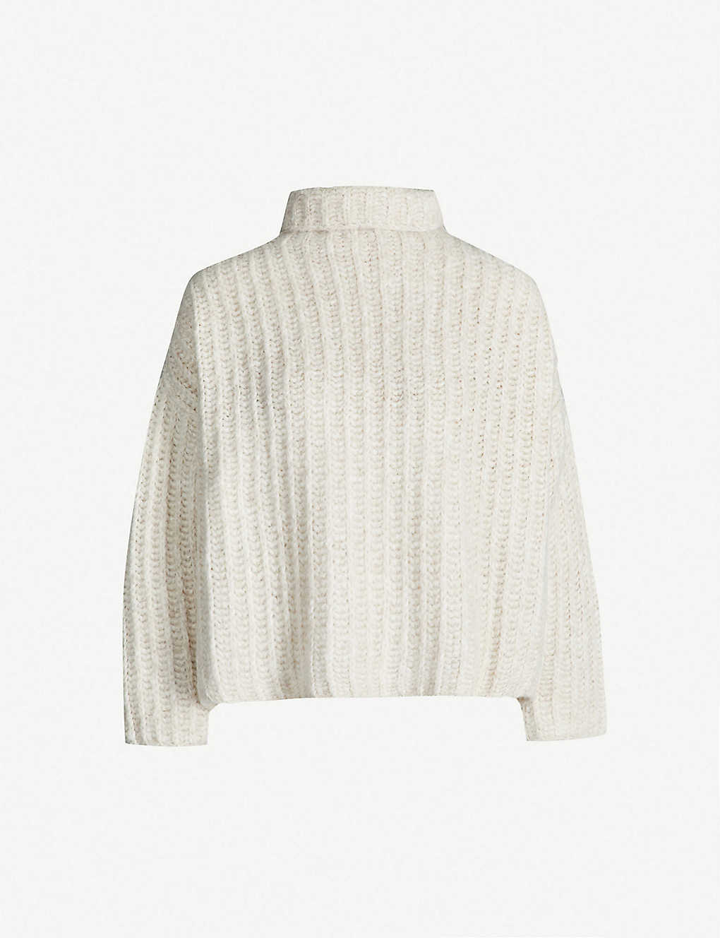 83763659944a97 FREE PEOPLE - Fluffy Fox ribbed-knit turtleneck jumper