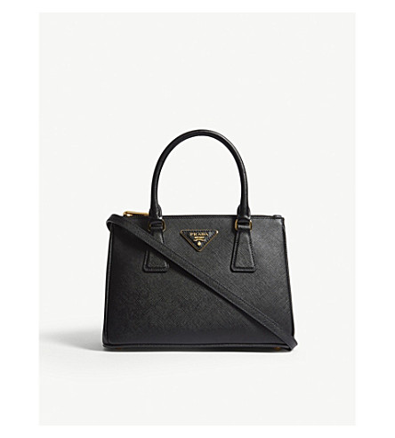 47bc5591c540 ... PRADA Galleria leather mini shoulder bag (Black. PreviousNext