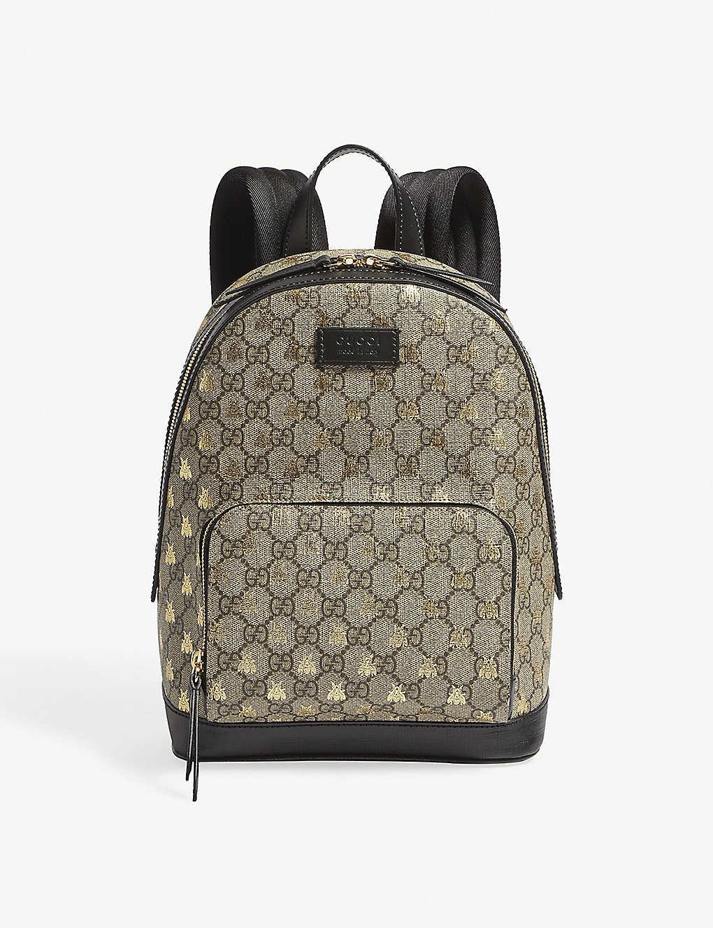 GUCCI - Bee GG Supreme backpack   Selfridges.com e238e20ef4