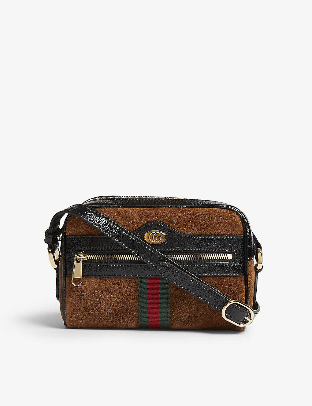c6b149613185 GUCCI - Ophidia small suede cross-body bag