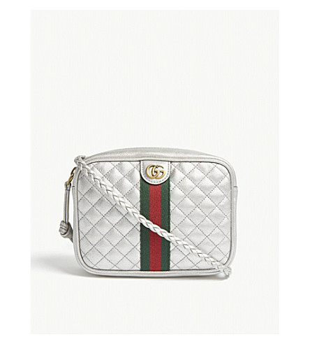 Logo Quilted Leather Cross Body Bag by Gucci