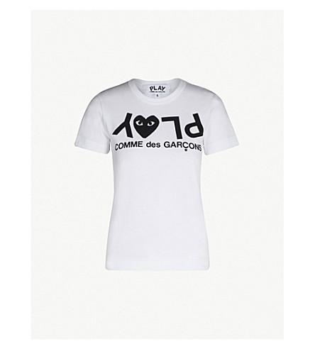 COMME DES GARCONS PLAY - Reverse logo-print cotton-jersey T-shirt ... 8cfa24d878e
