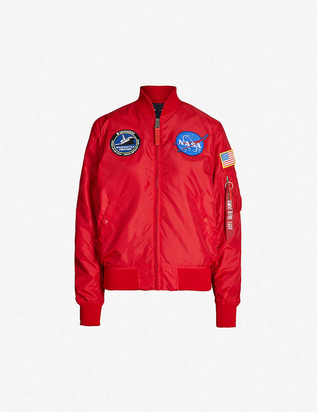 ALPHA INDUSTRIES - NASA-appliquéd reversible shell bomber jacket ... 24cb2ea7a54