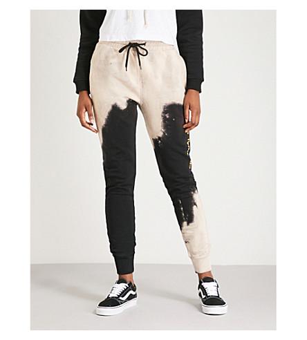 Bleach Cotton Jersey Jogging Bottoms by Criminal Damage