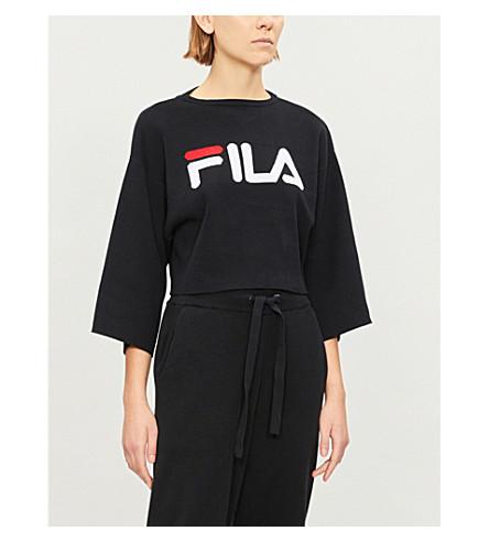 Palmira Logo Print Stretch Cotton Jumper by Fila
